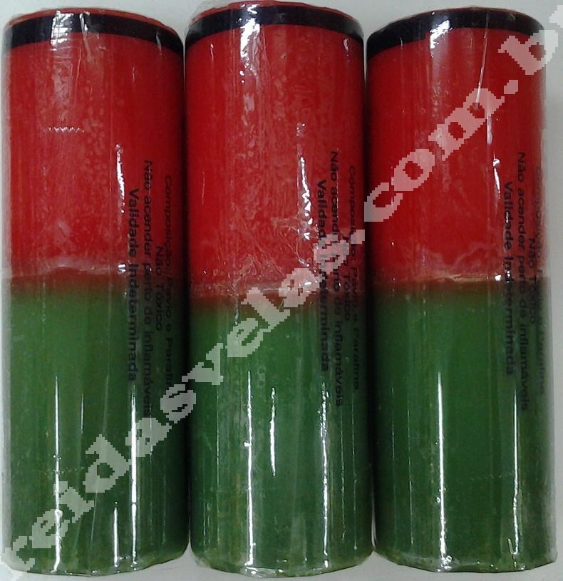 Vela Vermelha e Verde - 240g