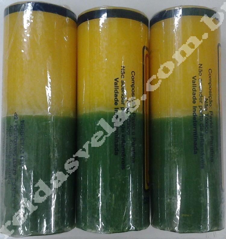 Vela Amarela e Verde - 240g